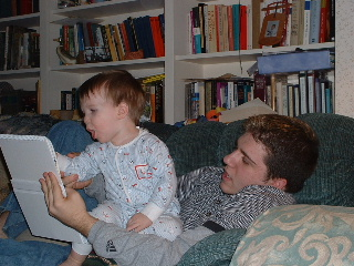 Joseph and Christopher reading